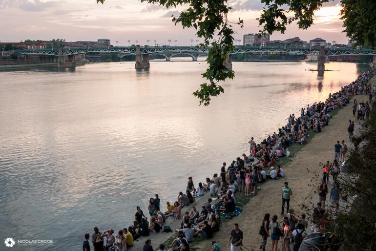 Toulouse - Fête de la musique - Berges de la garonne